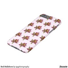 Red Hellebore Casemate Barely There case for iphone and Samsung Galaxy models. Helleborus orientalis or Lenten Rose  Important: The background color be customized to suit your preferences before placing your order