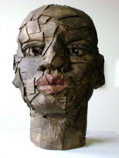 Sculptures in corrugated cardboard in cardboard art  with Sculpture Cardboard Art