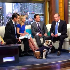 On the set of Fox and Friends. I was behaving myself, at least until the basketballs came out. #bigdawgstour #butlerblueiii