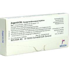 ARGENTIT D 6 Ampullen:   Packungsinhalt: 8 St Ampullen PZN: 01617808 Hersteller: WELEDA AG Preis: 12,49 EUR inkl. 19 % MwSt. zzgl.…