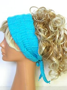 Knitted Head band Knitted Ear Warmer Turquoise. by EmofoFashion