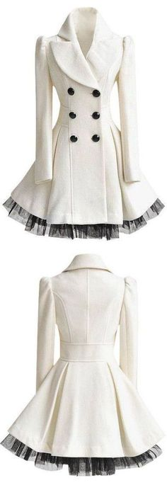 White Ruffled Tulle Coat