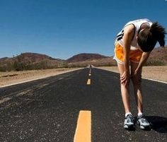 The feeling at the end of a good run- half wanting to die, half feeling victorious!