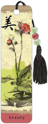 Ikebana Beauty - Beaded Bookmark