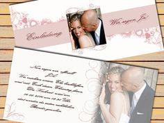 Einladung, Dankeskarte, Hochzeitskarte. http://www.hochzeit-extrablatt.de/lichthuellen-hochzeit-taufe.html#h=1455-1405935248435