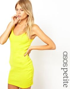 ASOS PETITE Exclusive Vest Dress with V Neck http://www.asos.com/ASOS-Petite/ASOS-PETITE-Exclusive-Vest-Dress-with-V-Neck/Prod/pgeproduct.aspx?iid=3263184=8799=0=0=36=3=Yellow