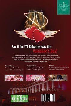 Say it the ITC Kakatiya way this Valentine's Day... #Hyderabad