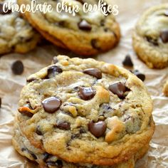 The Best Ultimate Chocolate Chip Cookies Recipe Desserts with butter, brown sugar, white sugar, eggs, vanilla extract, instant espresso powder, baking soda, corn starch, salt, all-purpose flour, semi-sweet chocolate morsels, dark chocolate chips