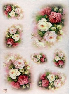Ricepaper/ Decoupage paper, Scrapbooking Sheets /Craft Paper Romantic Roses