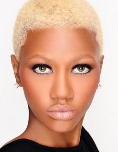 I believe I might try this super blonde short fro for the summer, thinking of chopping!  thinking!