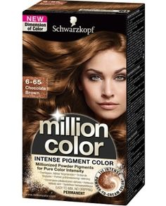 Million Color Schwarzkopf - 6.65 Chocolate Brown in the group HAIR / care / Hair / Permanent hair color of bubblebox (tr512015)