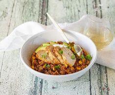 Mexická quinoa s krůtím masem | Recepty Albert Quinoa, Beef, Ethnic Recipes, March, Food, Meat, Essen, Ground Beef, Yemek