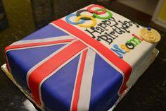 British flag/Olympic cake  - Cake by Cakesbylala