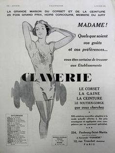 Claverie underwear lingerie corseterie vintage poster by OldMag