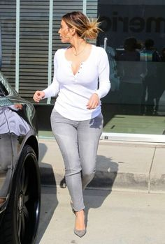 KIM KARDASHIAN-Street Style 2014 Out Shopping in West Hollywood