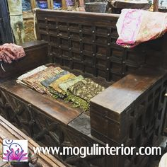 Bench With Storage, Storage Chest, Storage Benches, Antique Bench, Antique Furniture, Teak, Hand Carved, Decorative Boxes, Carving