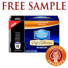 Free Sample of Maxwell House Coffee K Cups