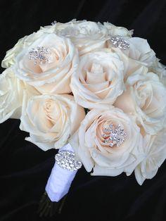 Bridal Bouquet~Ivory Roses