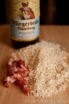 Risotto alla birra con pancetta e ricotta
