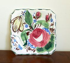 Vintage Italian Ceramic Plate - Hand painted - I have a vendor with some of this great china! So cute & Fun!