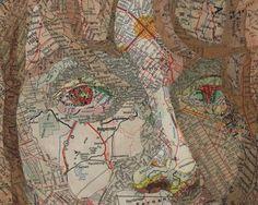 Map Art by Matthew Cusick.