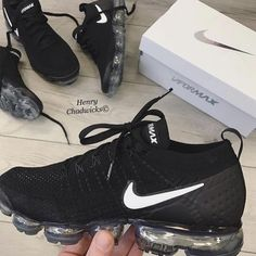 Shop Wmns Air VaporMax Flyknit 2 'Black White' - Nike on GOAT. We guarantee authenticity on every sneaker purchase or your money back. Nike Air Shoes, Nike Tennis Shoes, Zapatillas Jordan Retro, Cute Sneakers, Black Shoes Sneakers, Sneakers Adidas, Baskets Nike, Aesthetic Shoes, Fresh Shoes