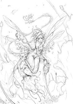 Daily-Chick 02 - pollen pixie sketch by muju.deviantart.com on @deviantART