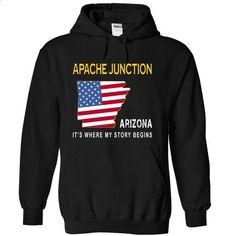 APACHE JUNCTION - Its Where My Story Begins - #silk shirt #t shirt websites. MORE INFO => https://www.sunfrog.com/States/APACHE-JUNCTION--Its-Where-My-Story-Begins-bqacq-Black-14165157-Hoodie.html?id=60505