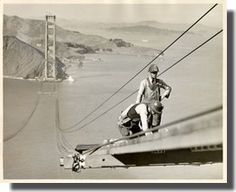 Golden Gate Bridge construction  posted on Sunset Guides (French)