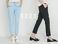 X.O.X.O. 【P061103】0611 設計師款好品質菱格布料九分西裝長褲 XS/S/M 少量現貨+預購 | x.o.x.o. - 550
