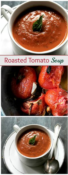 A delicious Roasted Tomato Soup made with garden fresh tomatoes, garlic, onions, and basil. This is my FAVORITE soup recipe! #dayrecipes.com #day_recipes #Top_Healthy_Recipes #Healthy_Recipes  #easy_Healthy_Recipes #Best_Healthy_Recipes