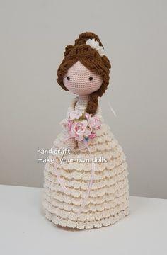 Crochet Doll Dress, Crochet Doll Pattern, Knitted Dolls, Crochet Patterns, Amigurumi Doll, Amigurumi Patterns, Doll Patterns, Crochet Woman, Diy Crochet