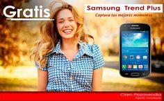 Samsung Trend Plus Totalmente gratis con un plan de 180min+300msjs+3mbps tan solo por 18.850 Colones. #SamsungTrendPlus