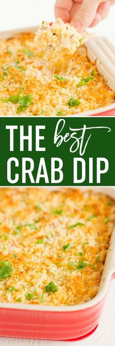 This is the BEST easy crab dip - full of flavor and perfect for summer parties. Dig in with your favorite chips or serve on baguettes! via @browneyedbaker