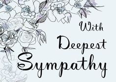 Printable With Deepest Sympathy Card. Blue Floral by MarinaColors