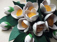 Quilled Jasmine Flowers - Detail
