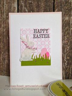 Fun Easter Card using Amuse Studio Bunny Die set.