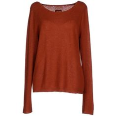 Dear Cashmere Sweater ($177) ❤ liked on Polyvore featuring tops, sweaters, brick red, long sleeve sweaters, long sleeve tops, dear cashmere, brown cashmere sweater and cashmere sweaters