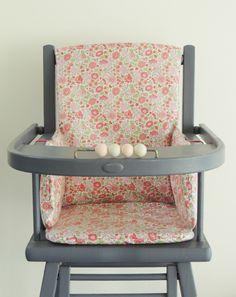 Coussin de chaise en Liberty enduit D'Anjo Sweet pink Demeure des Anges