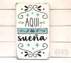 Aquí se sueña Diy And Crafts, Arts And Crafts, Vintage Cafe, Word Art, Wood Signs, Decoupage, Stencils, Projects To Try, Crafty
