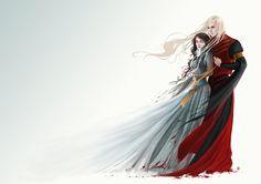 Lyanna + Rhaegar II by Gudulett-e