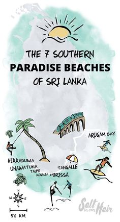 beaches sri lanka map