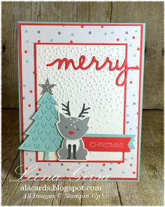Stampin' Up! Foxy Friends, A La Cards: 12 Days of Christmas in July Day 8