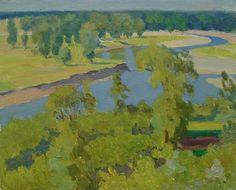 VINTAGE RIVERSCAPE Original Oil Painting by a Soviet Ukrainian Artist Ovsyannikova E. 1970s, Signed, Waterscape, Fine Art, High Quality by SocialistRealismArt on Etsy https://www.etsy.com/listing/531185809/vintage-riverscape-original-oil-painting