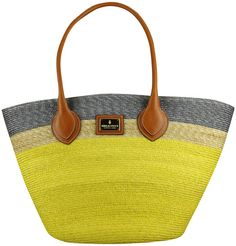 Tricolored Straw Bag - Lyst