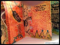 Mixed Media Envelope Book by Jessica Sporn using StencilGirl stencils.