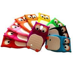 3D Owl Design Case Covers Skin for Samsung Galaxy S4 IV 9500/ S3 i9300, iPhone 4/4s/5/5s/5c, ipod 5