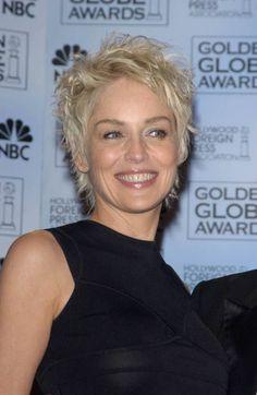 Sharon Stone funky pixie