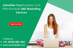 Generate leads faster and more cost efficiently with SMS marketing for all type business. New Customer Line (Buyer & Seller) Introduce New Packages/ Offers New Properties Offering To Mobile Users Request for Properties on Sale at Specific Location Marketing Campaign. #  http://www.mysmsindia.com/