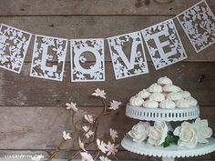 Spring in Bloom LOVE Banner  Cutting file